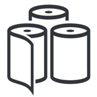 Roll stock icon for web paper.