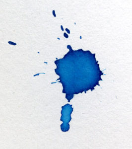 Wet ink on paper graphic