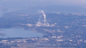 Image of paper mill in Camas, WA that recently closed.
